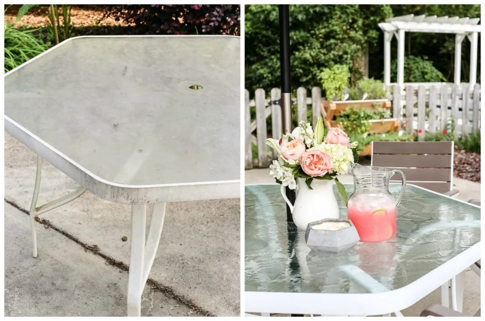 How to revive a glass patio table
