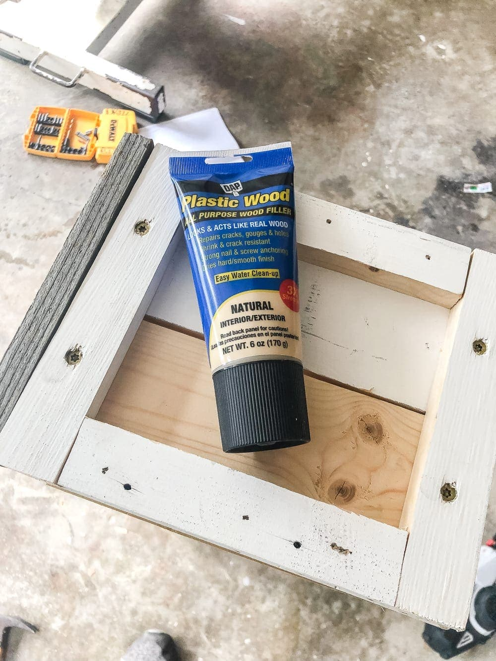 wood filler on window box