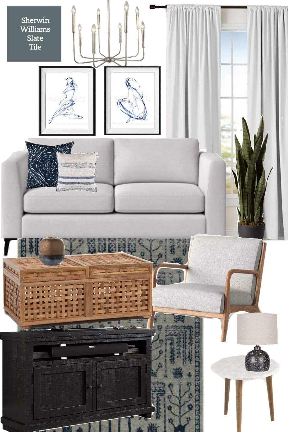 3 Living Room Design Mood Boards Under $2,000 | Modern Minimalist