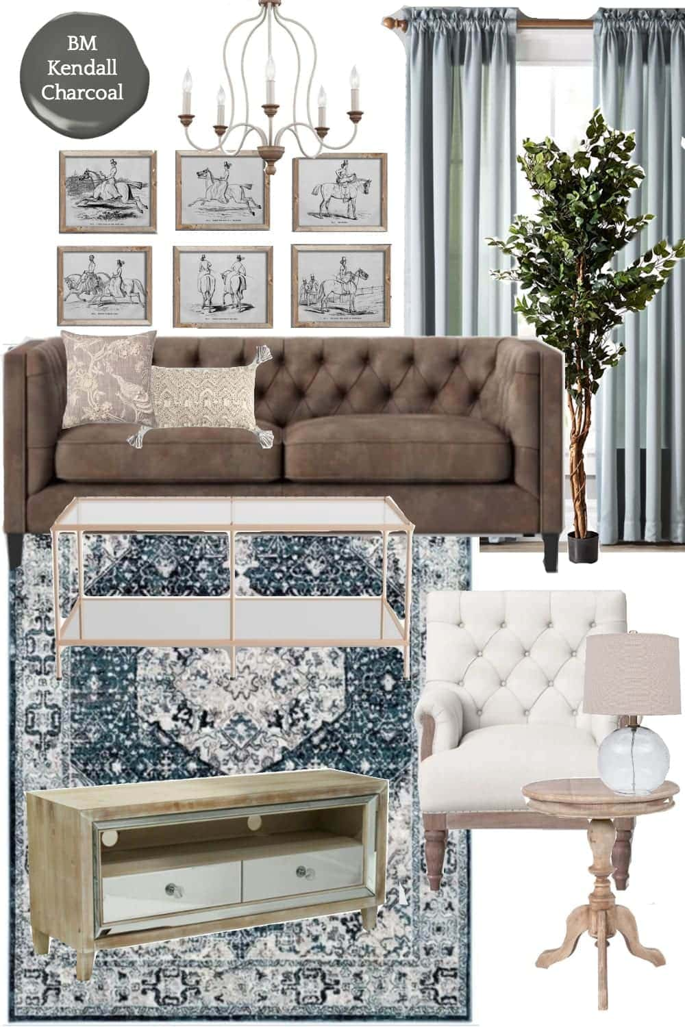 3 Living Room Design Mood Boards Under $2,000 | Modern Rustic French