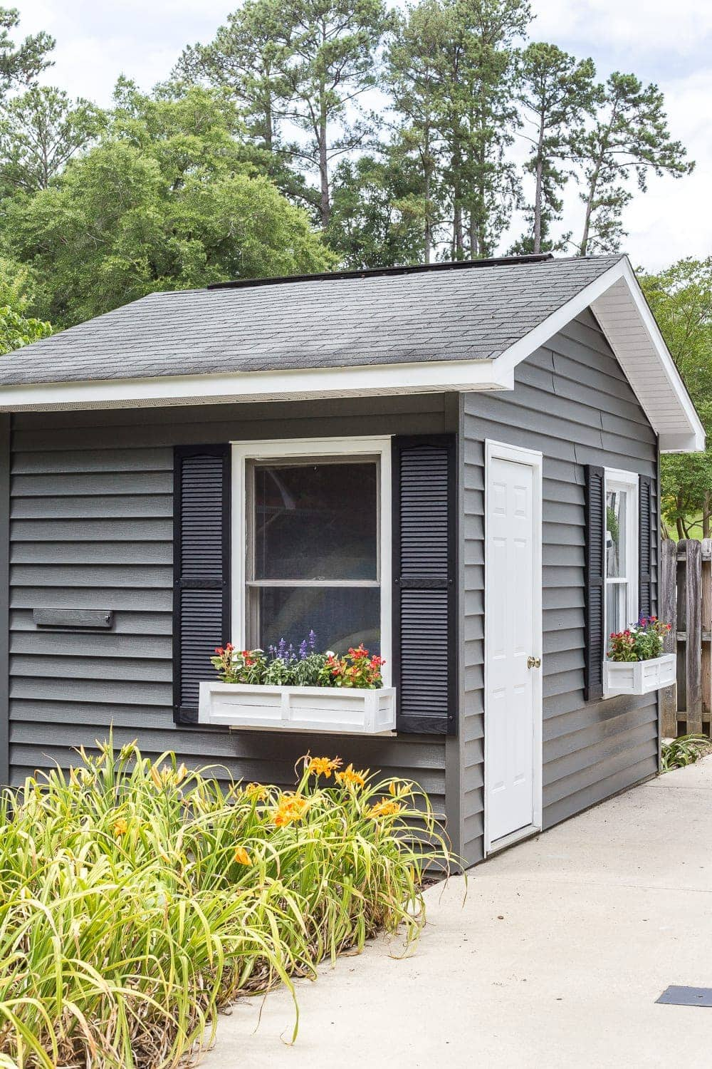 How To Paint Vinyl Siding Pool Shed Makeover Bless Er House