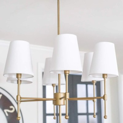 Chandelier Makeover + the Best Brass Spray Paint