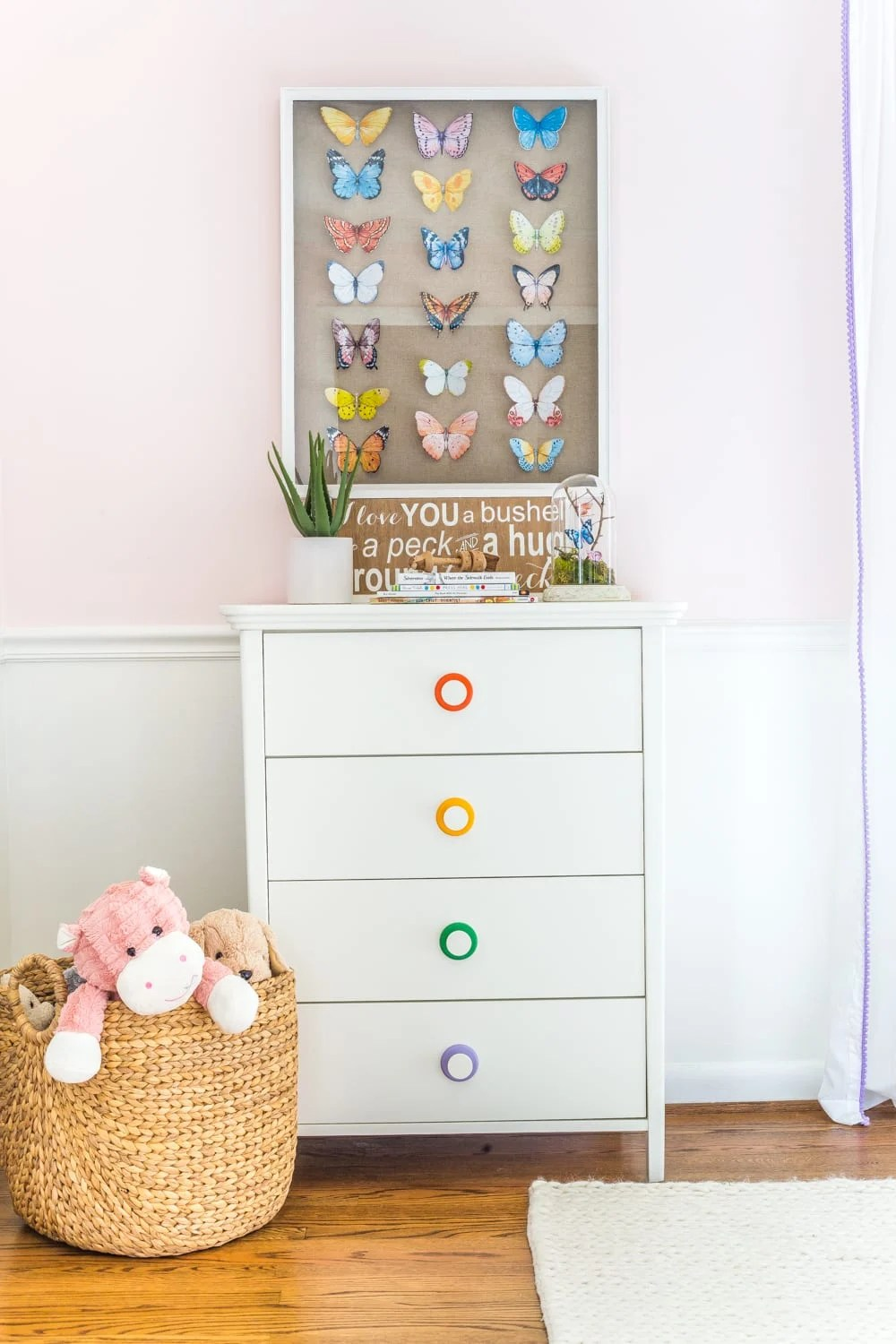 Why secondhand dressers are not always the best solution + top picks from the Flower Kids home decor line from Walmart.