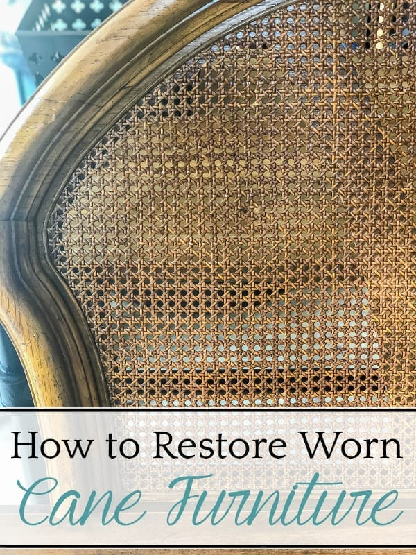 How to restore worn cane furniture