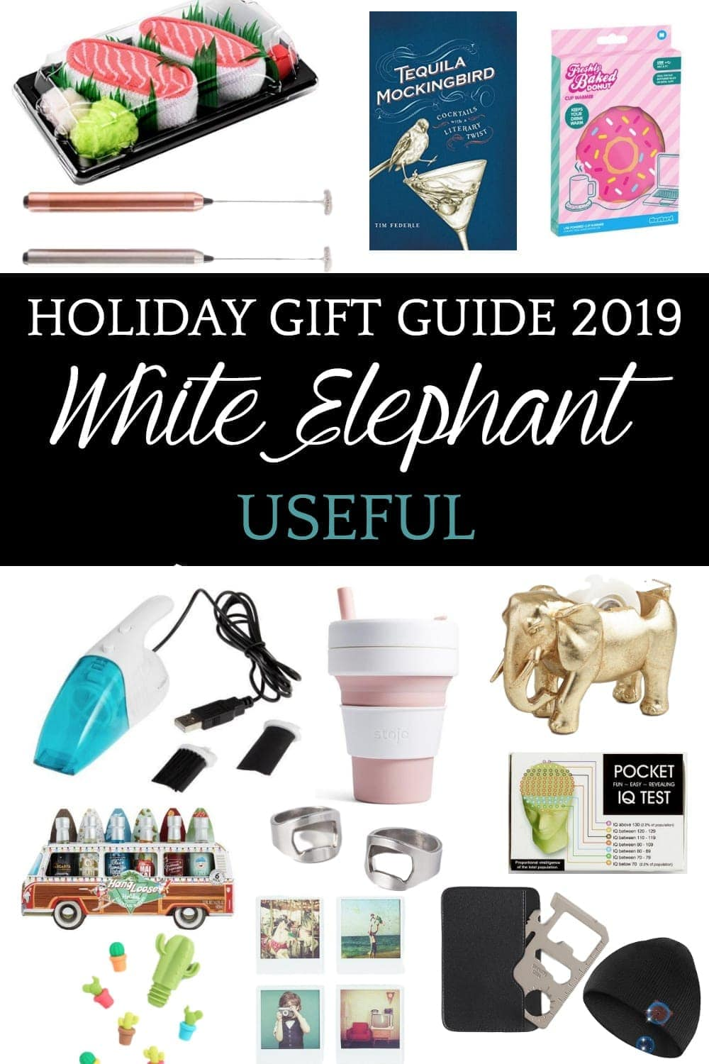 White Elephant Gift Ideas | 40 white elephant gift ideas that are hilarious, useful, or for kids to make your next Christmas party a hit. #whiteelephantgifts