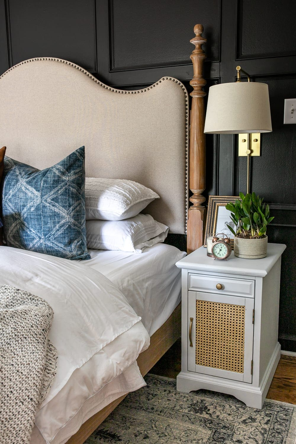 Nightstand Decor | 4 rules for nightstand decor to keep it pretty, functional, and clutter-free plus 4 nightstand decor ideas for all styles.