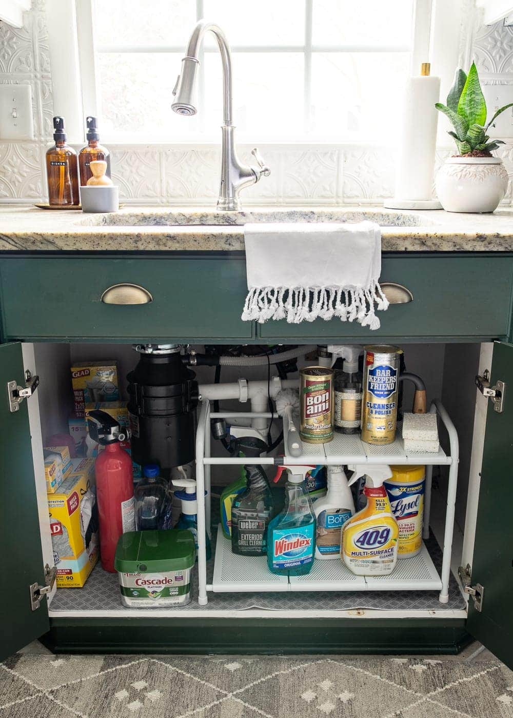 Kitchen Organization Makeover | Under Sink Cabinet Organization
