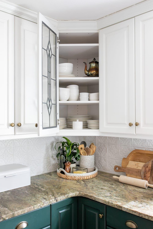 Kitchen Organization Makeover | Dishes Cabinet