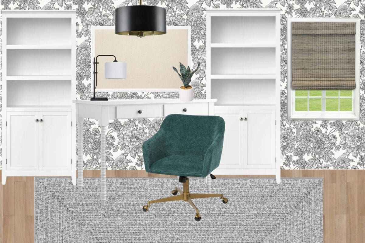 Home office ideas | black and white mood board