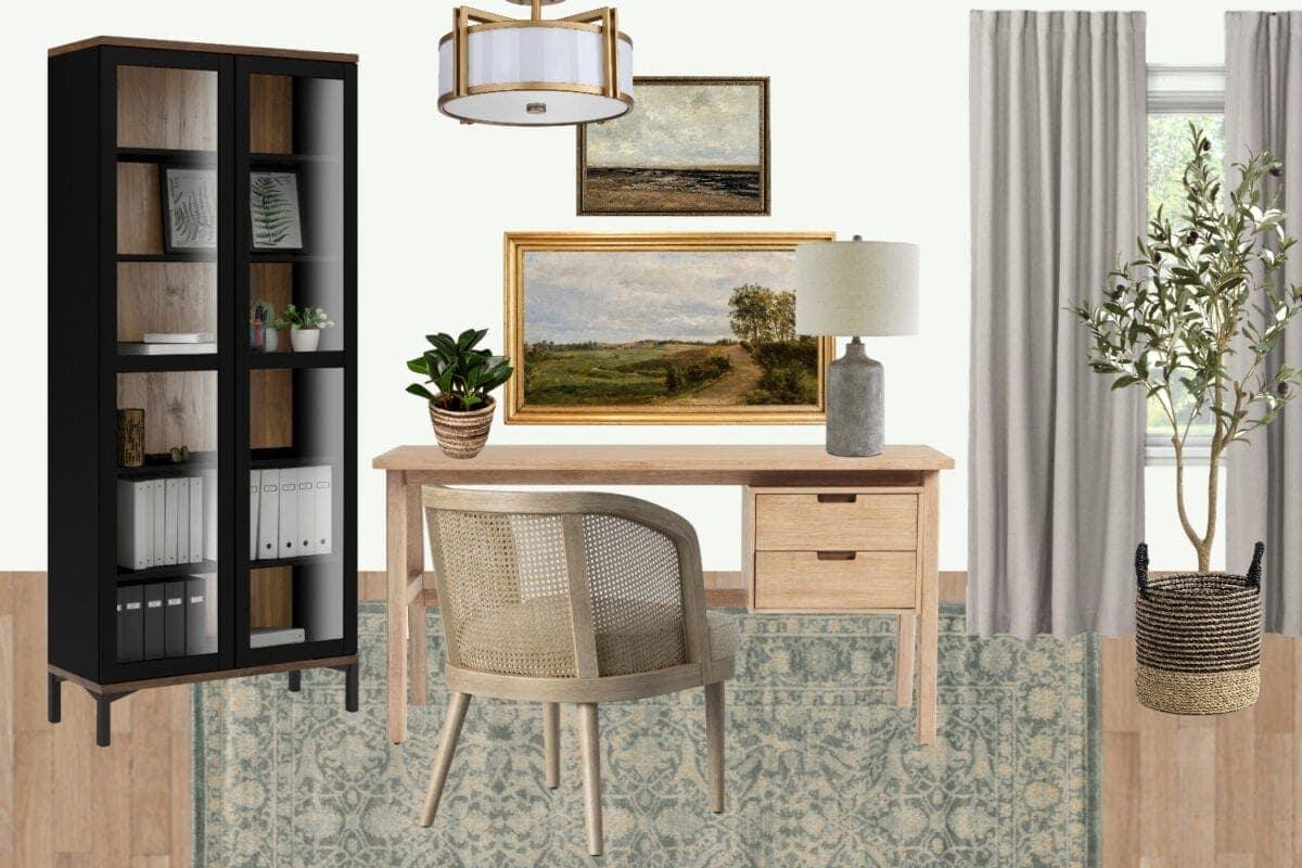 Home office ideas | neutral mood board