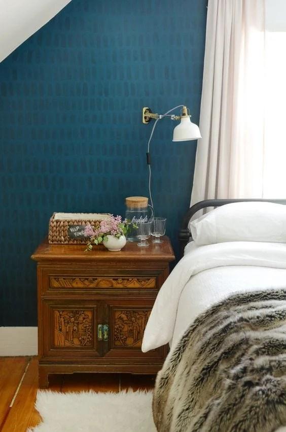 DIY Wall Decor Ideas | brushstroke focal wall