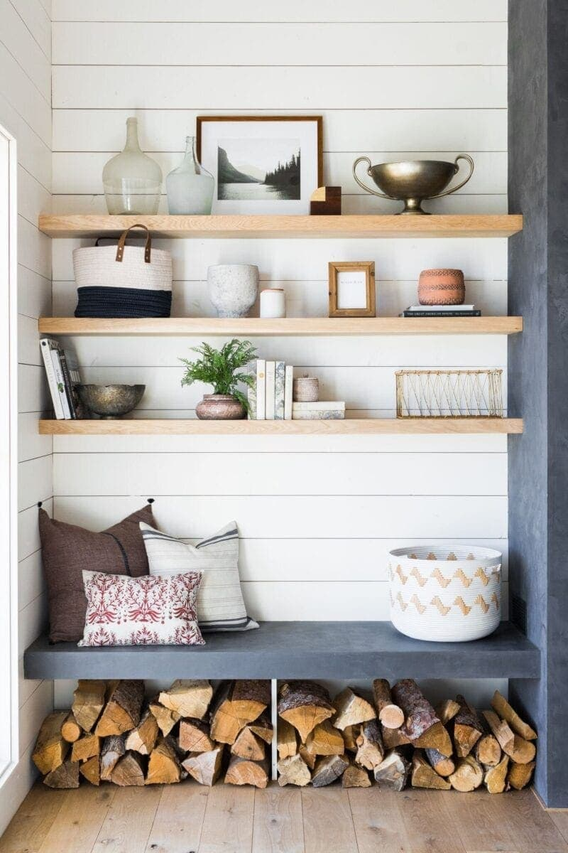 DIY Wall Decor Ideas | floating shelves