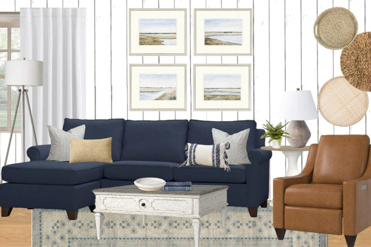 Coastal Living Room Mood Board