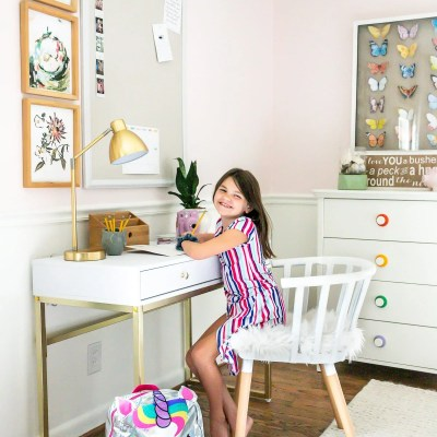 Homework Desk in Olivia's Room & Back-to-School