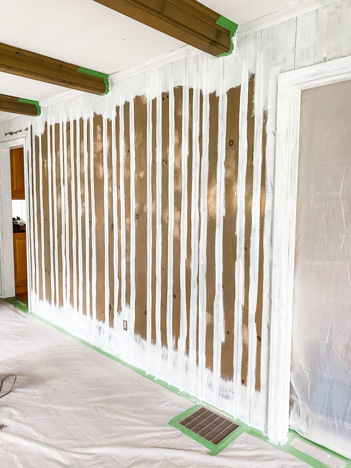 painting wall paneling