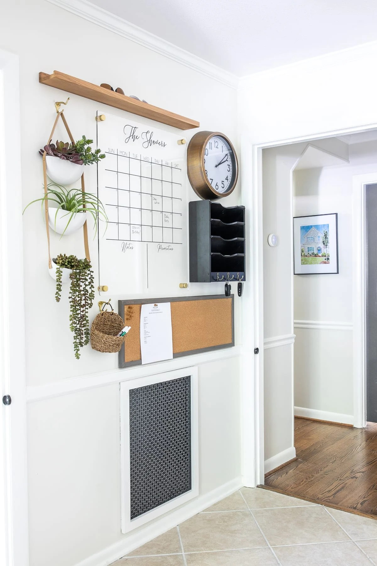 Command Center Wall Organizer and DIY Air Return Vent Cover