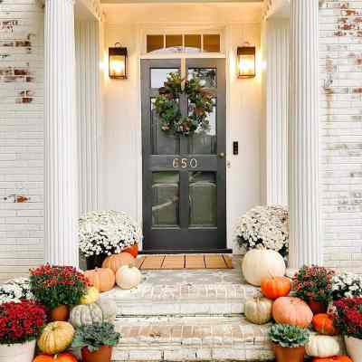 Colorful Fall Porch Stoop