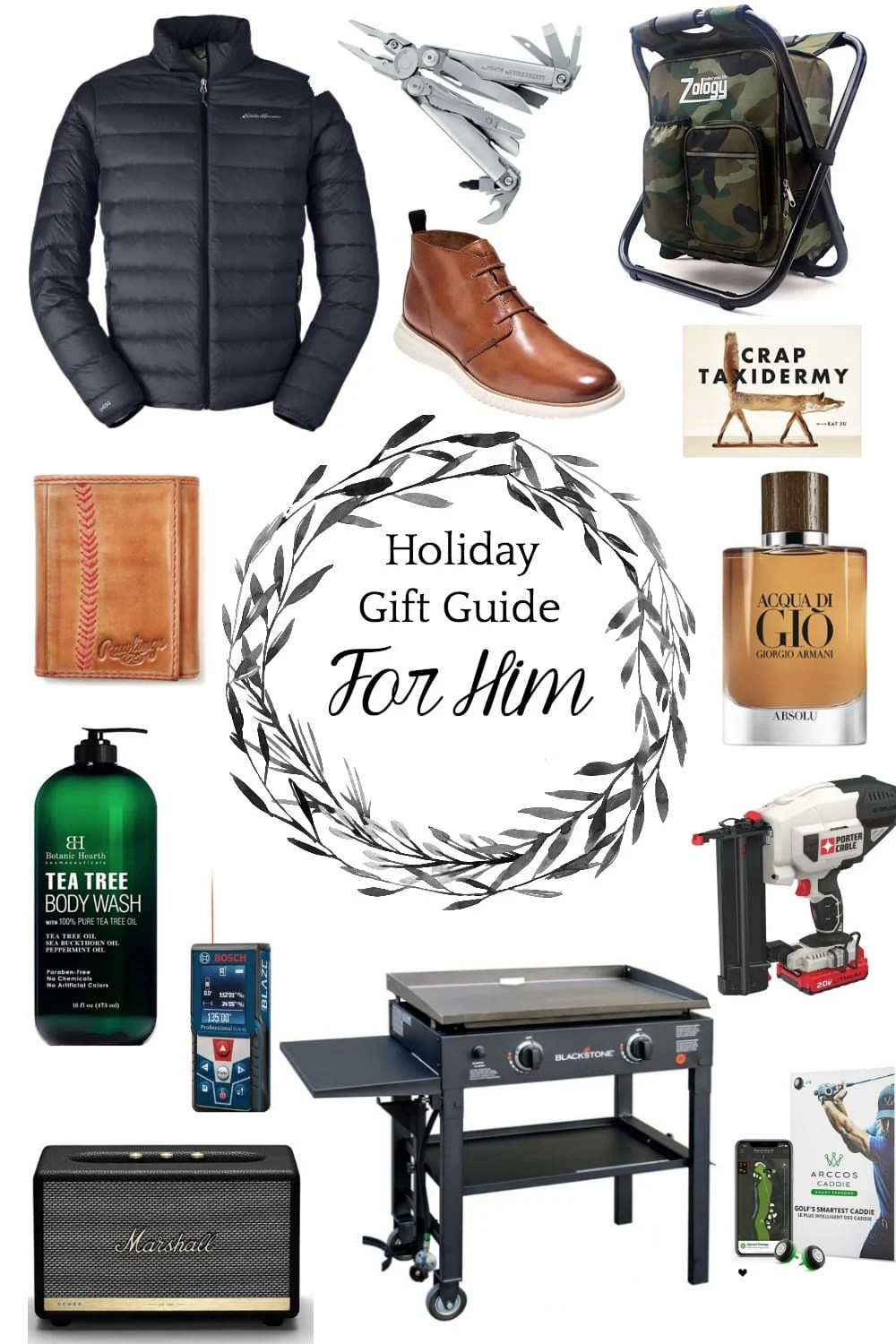 Christmas Gift Ideas for Men | Great gift ideas for all kinds of guys who love outdoors, golfing, working out, cooking, DIYing, relaxing, or just plain like to look good.