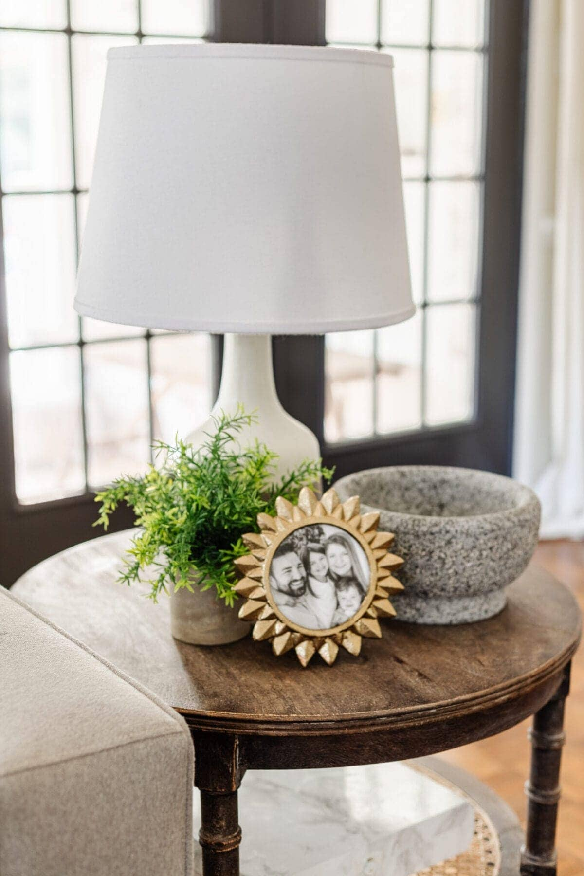 Winter Decor on an End Table