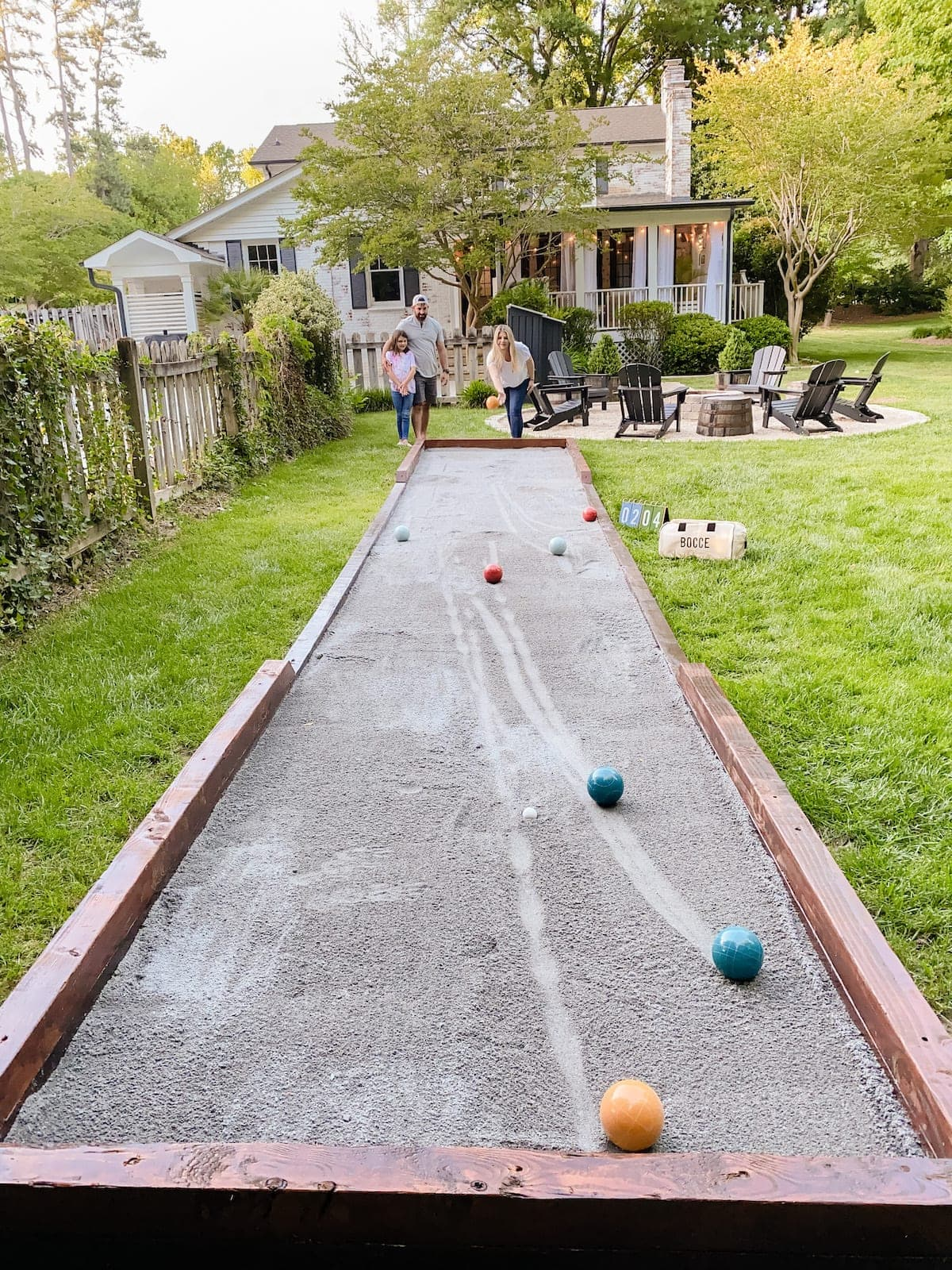 diy bocce ball court