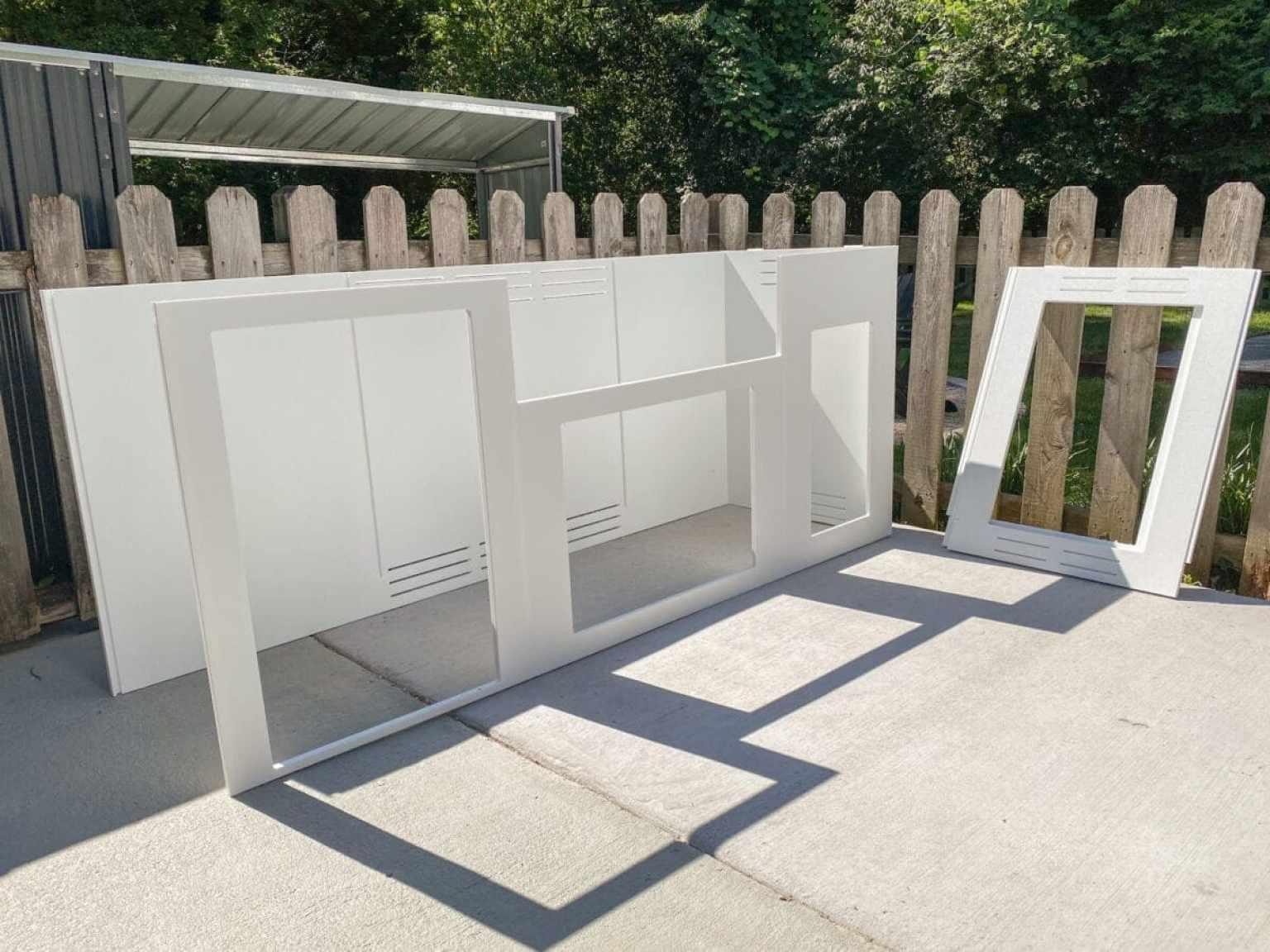 building a modular outdoor kitchen frame