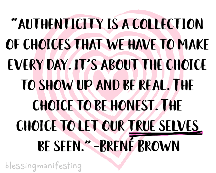 on being authentic