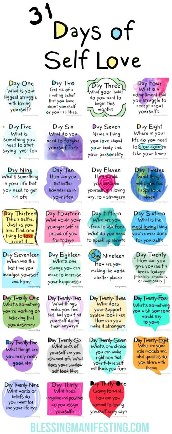 31 days of self-love