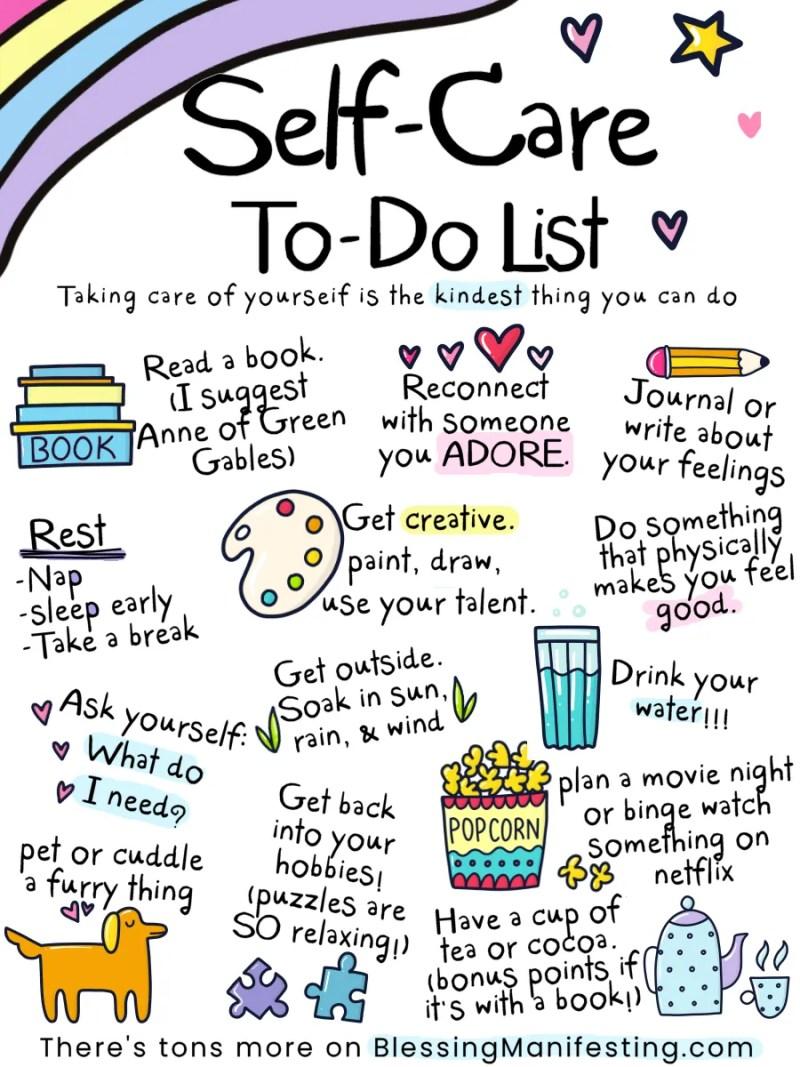 self-care to-do list