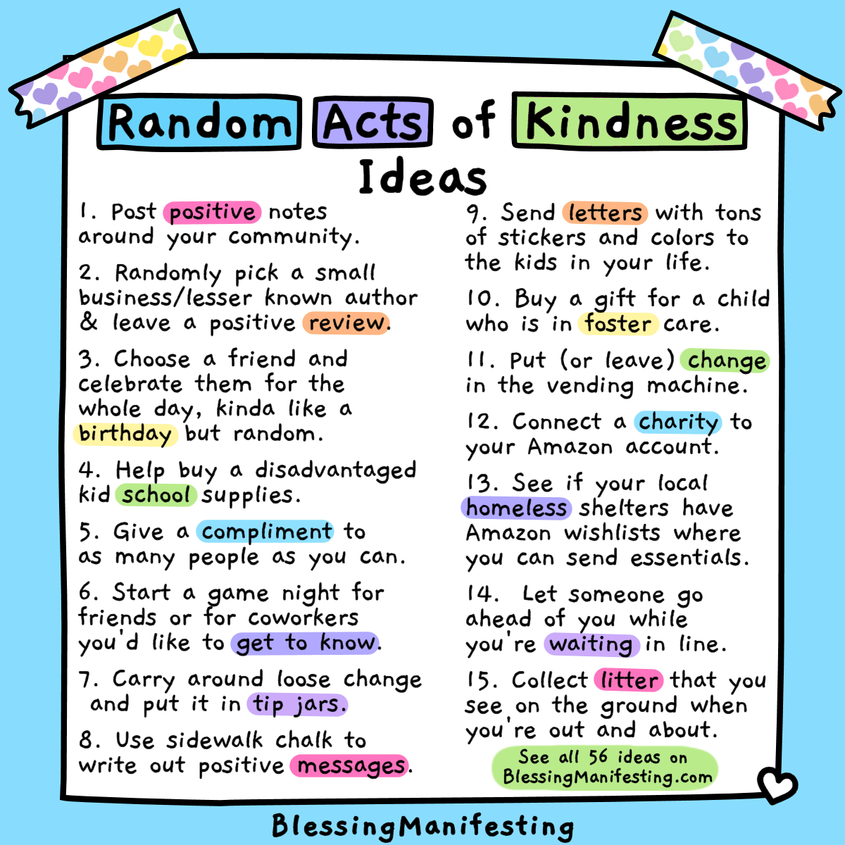 56 Random Acts Of Kindness Ideas
