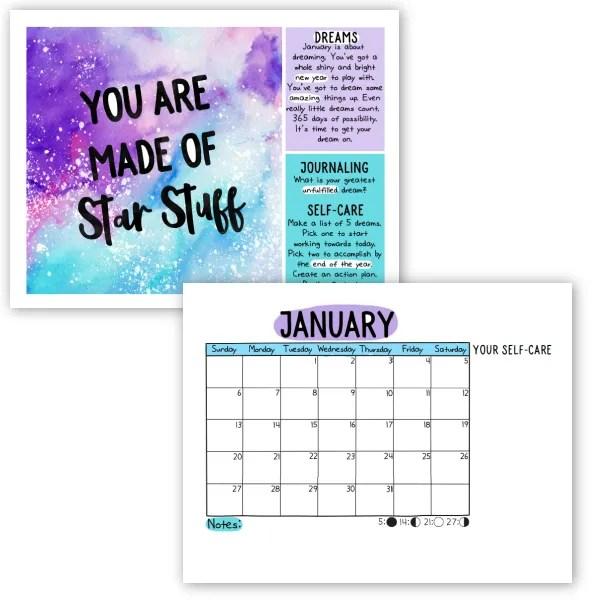 self-care calendar