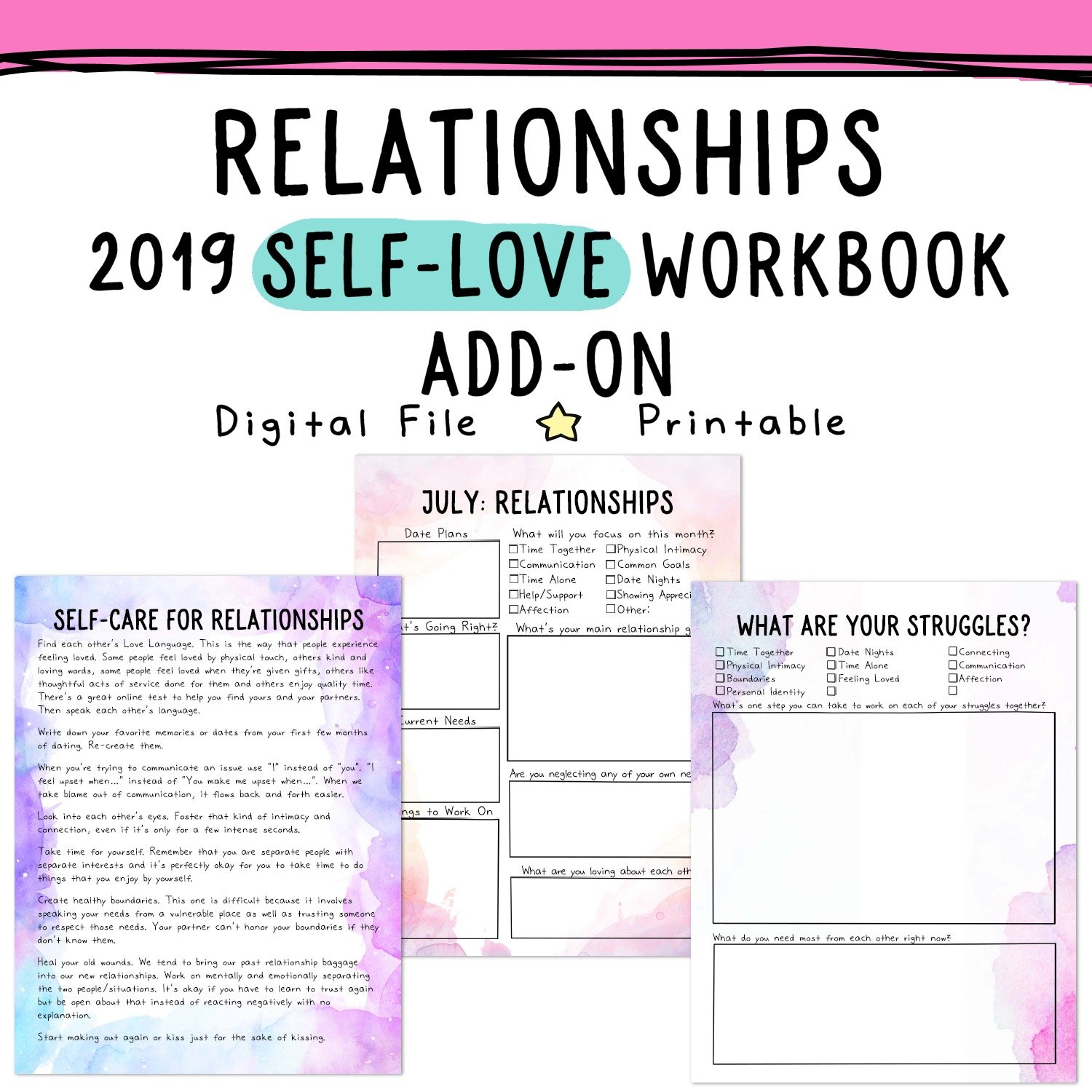 relationship worksheets