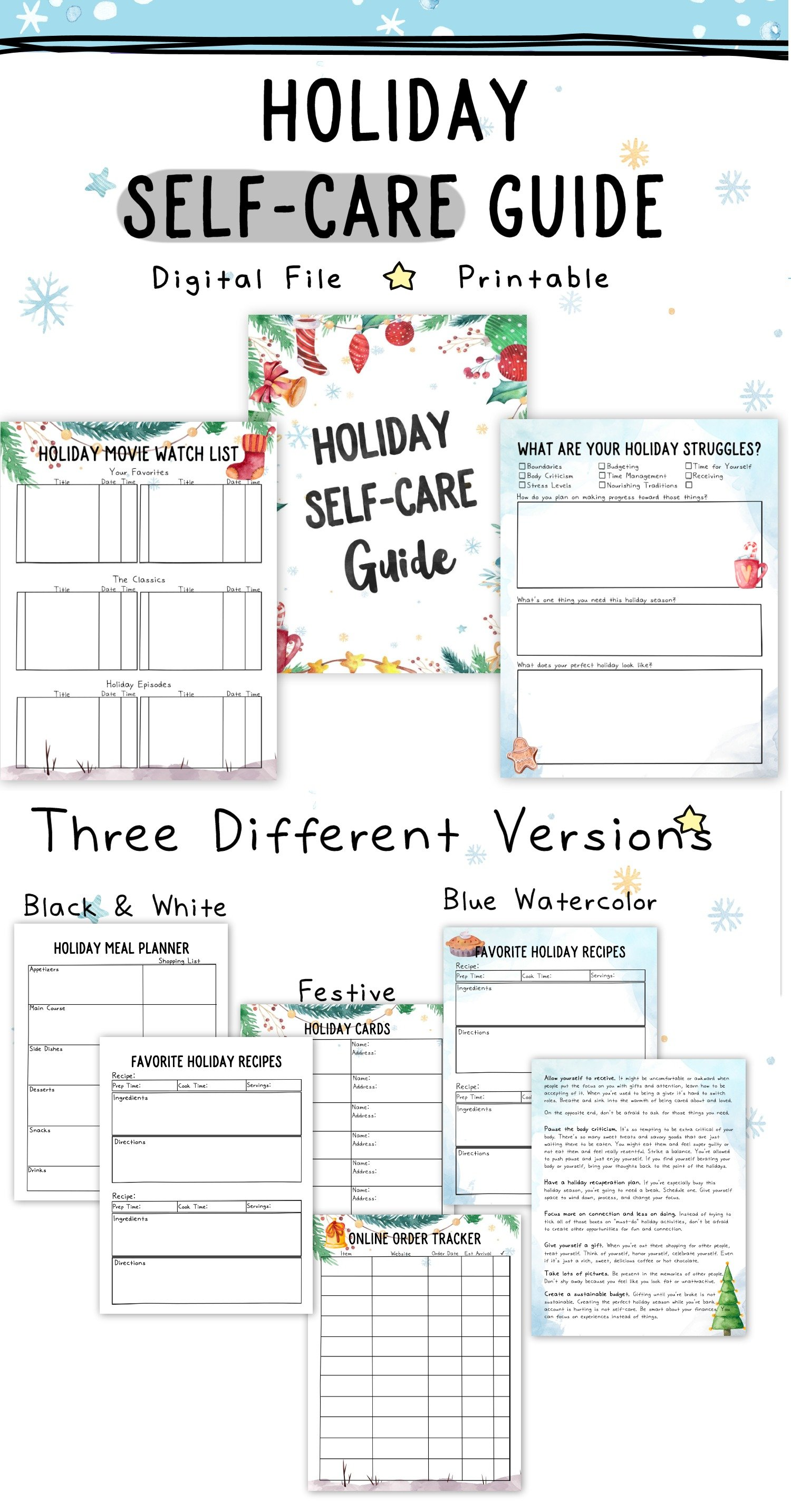Happy Holiday Worksheets