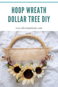 Hoop Wreath Dollar Tree DIY