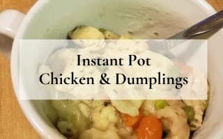 Instant Pot Chicken & Dumplings