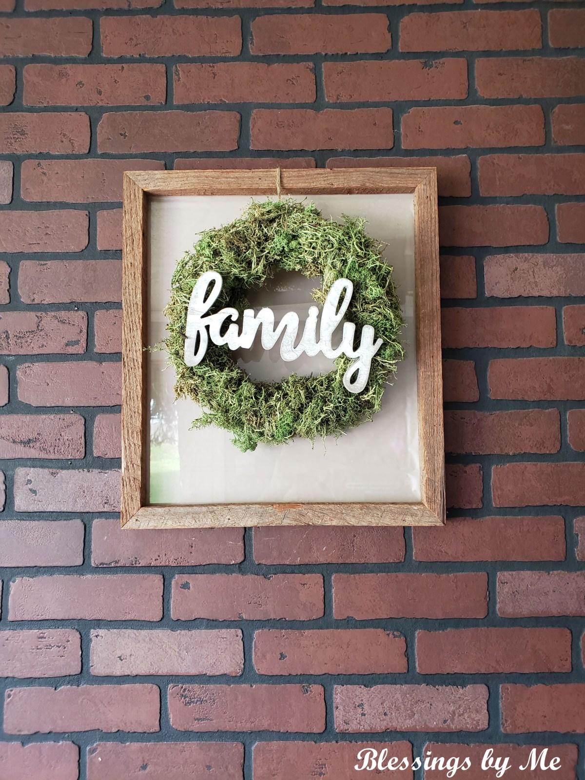farmhouse wreath frame diy