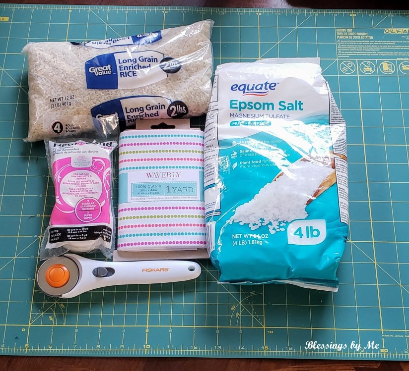 Items you need to make the DIY No Sew Lavender Scented Drawer Sachet