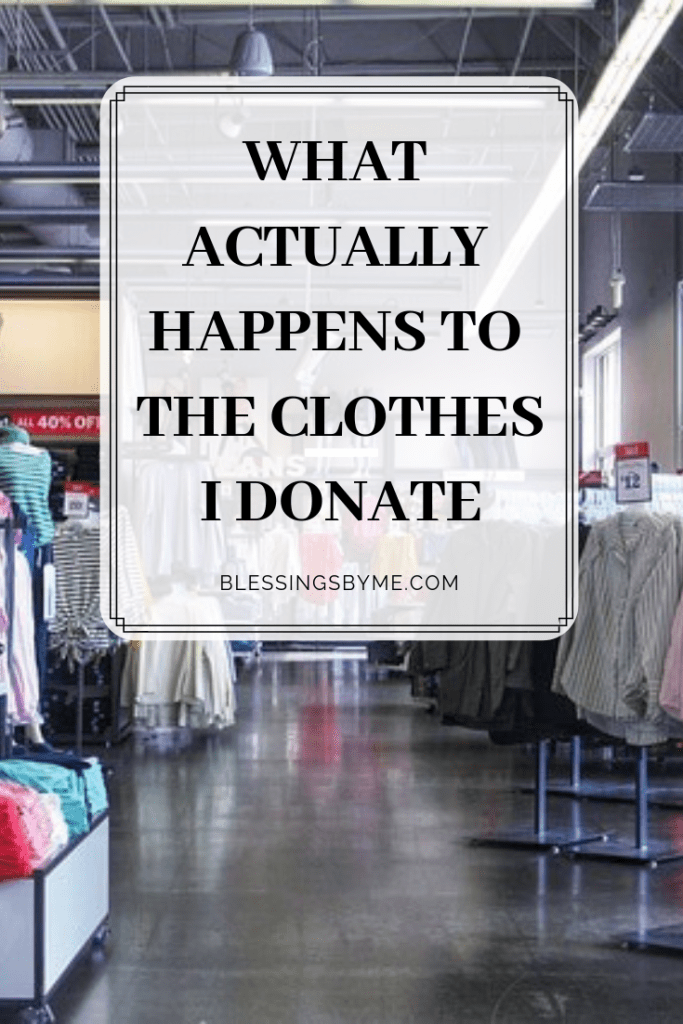 What actually happens to my donated clothes