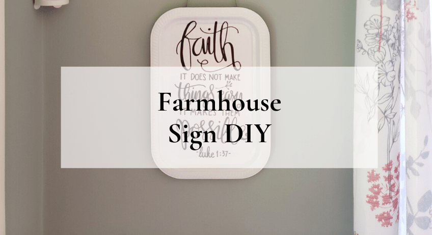 Farmhouse Sign DIY