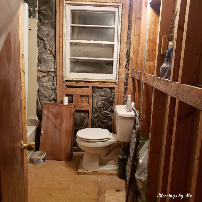 bathroom renovation cleaned up