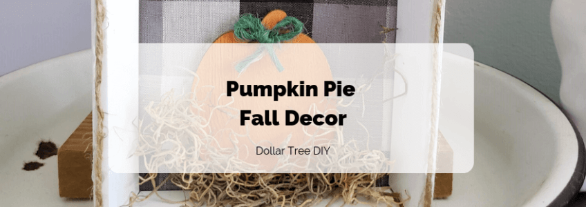 Pumpkin Pie Fall Decor Feature Photo