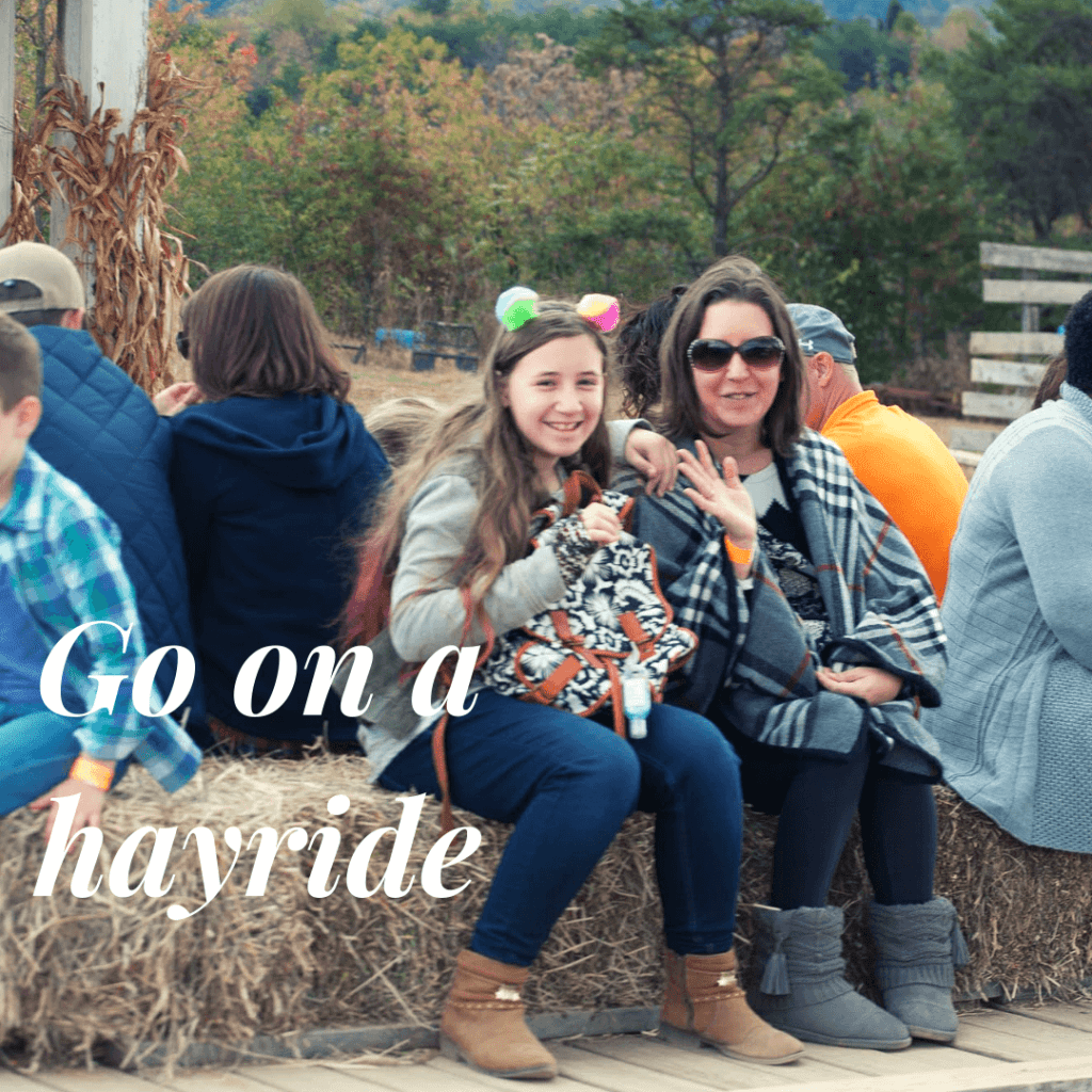 Go on a hay ride - fall family activities