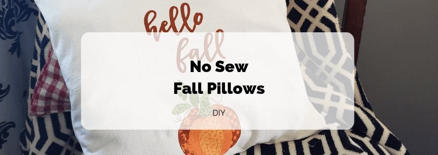 No Sew Fall Pillows