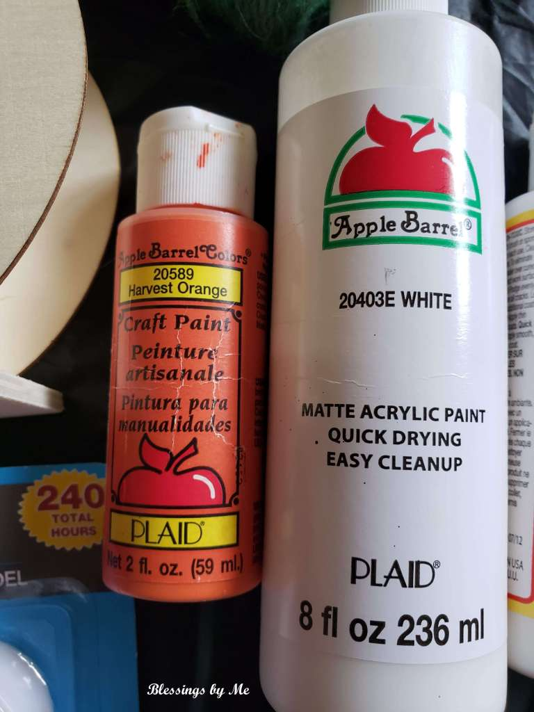 Paint used for 2-in-1 pumpkin decor