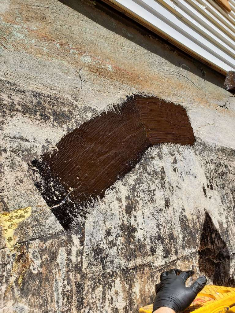 Patching the cracks - home renovation