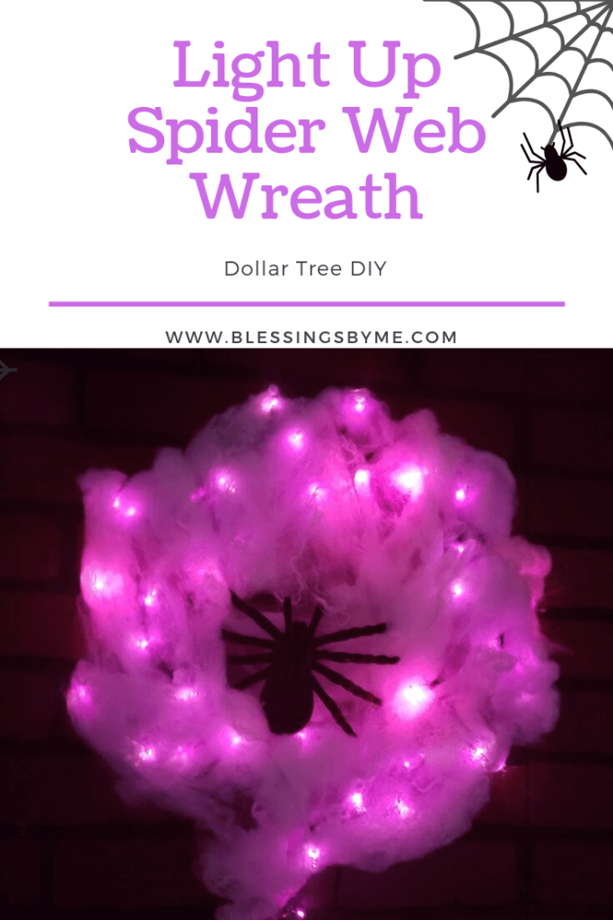 Light Up Spider Web Wreath