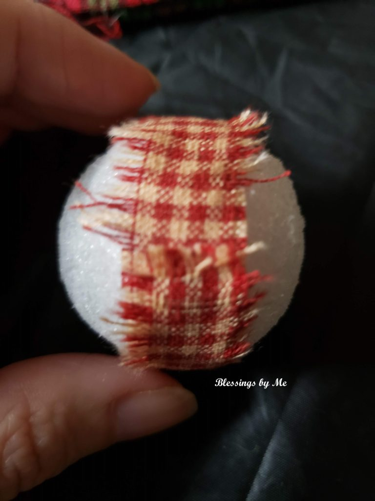 Glue fabric to ball