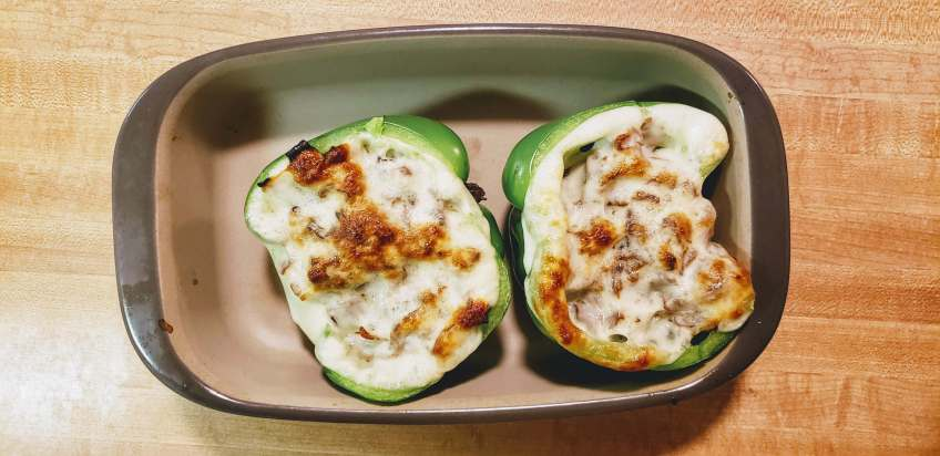 bake the Philly Cheesesteak Stuffed Peppers