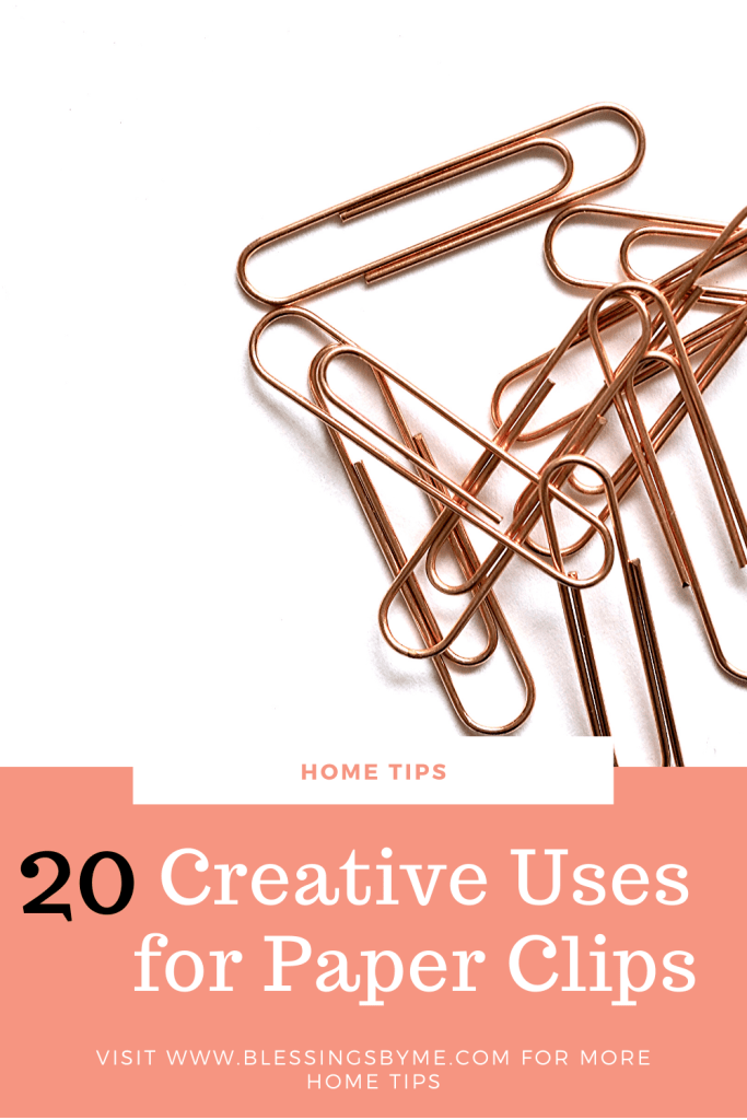 20 Creative Uses for Paper Clips Pin