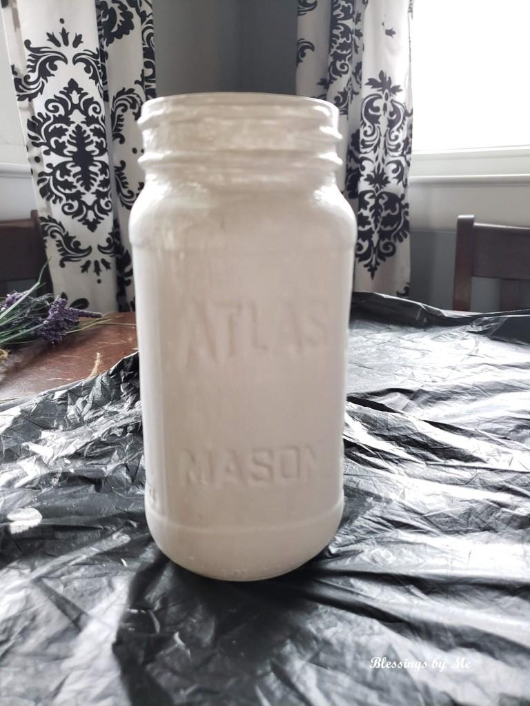 farmhouse mason jar vase step 1