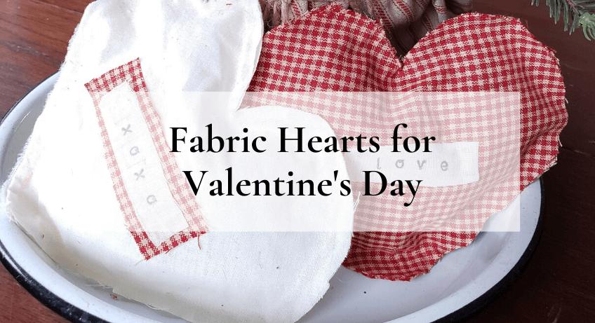 easy no sew fabric hearts